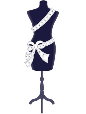 Desssin Mannequin de couture avec ruban